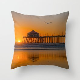 Seagull Over Ruby's Throw Pillow