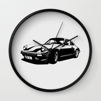 porsche Wall Clocks featuring Porsche 911 by Remove Before . . .