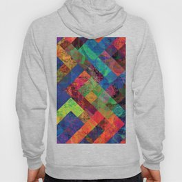 Abstract Colorful Checkered Hippy Design Hoody