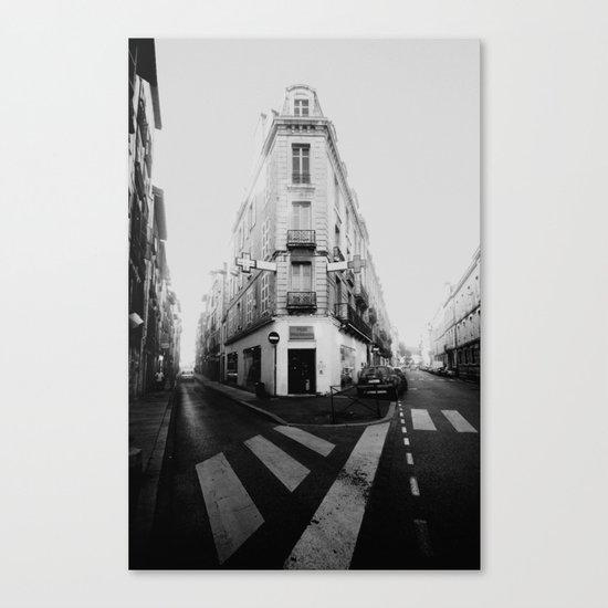 Monochrome France Canvas Print