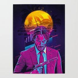 John Wick retro art Poster