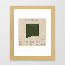 New Mexico Parks Framed Art Print