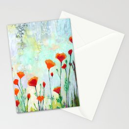 California Poppies Stationery Cards