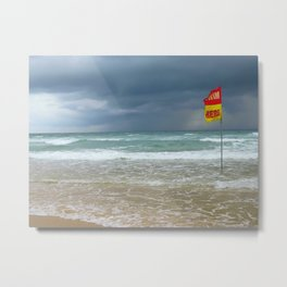 SWIM HERE Metal Print