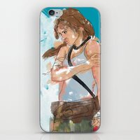 tomb raider iPhone & iPod Skins featuring Tomb Raider by Robbie Drew Dixon