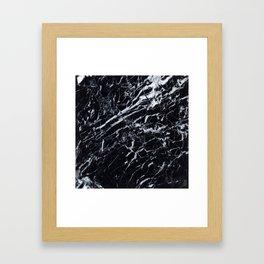 Marble Black Texture Framed Art Print