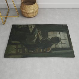 Woman Sewing Rug
