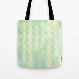 mint & yellow Tote Bag
