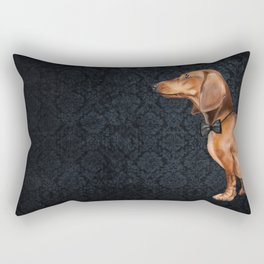 Elegant dachshund. Rectangular Pillow