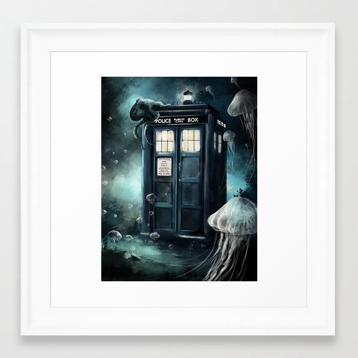 Doctor Who -Underwater Tardis Framed Art Print