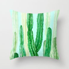 cactus in the nature Throw Pillow
