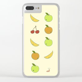Little Greedy Worm Clear iPhone Case