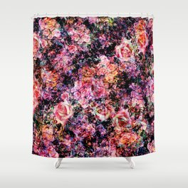 Polychromatic Roses Shower Curtain