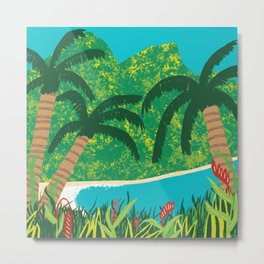 Tropical Island Getaway Metal Print