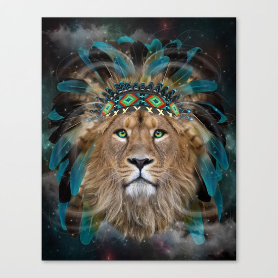 Fight For What You Love (Chief of Dreams: Lion) Tribe Series Canvas Print