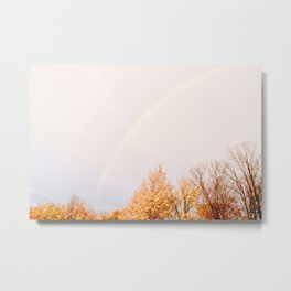 Autumn Rainbow Metal Print