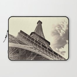 The famous Eiffel Tower in Paris, France in sepia. Vintage photography Laptop Sleeve