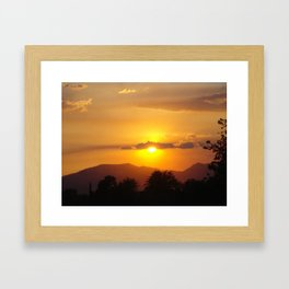 Smokey California Sunset Framed Art Print
