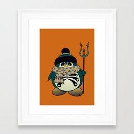 Harold The Penguin.Halloween character Framed Art Print