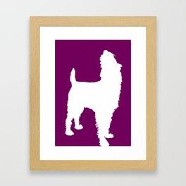 Dogs in Color - Irish Terrier Sniff Framed Art Print