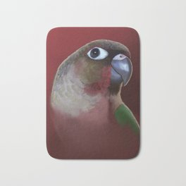 Yellow - Sided Green Cheek Conure Parakeet Bath Mat