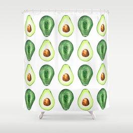 Half Avocado. Tropical Fruit. Shower Curtain