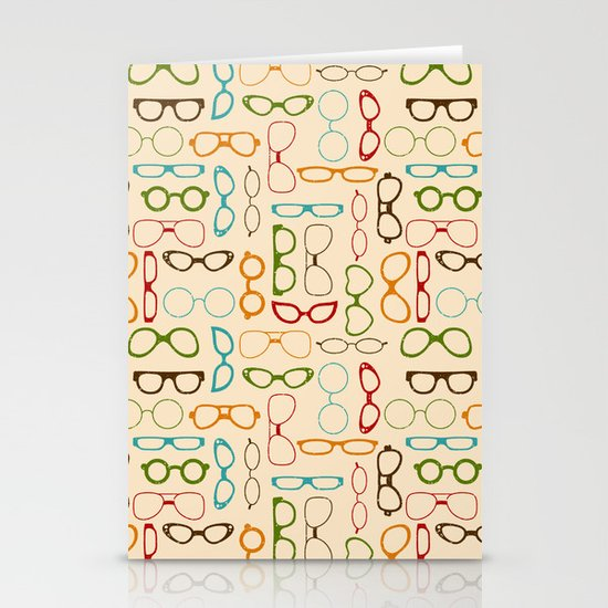 Retro glasses Stationery Cards