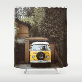 Yellow Van Ready For Road Shower Curtain