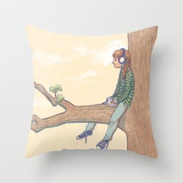90's Throw Pillow