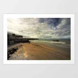 The Beach at Arrowmanches-les-bains Art Print