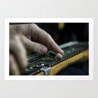 lap guitar Art Print