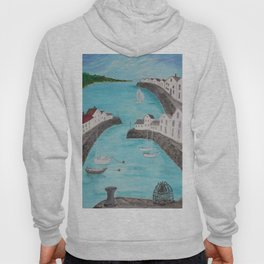 Harbour & sea view with distant hills Hoody