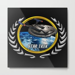 Star trek Federation of Planets Enterprise NX01 Metal Print