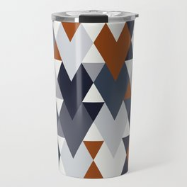 Navy Rust Geometry II Travel Mug