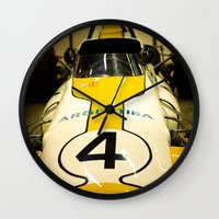 argentina Wall Clocks featuring Argentina #4 by Sciuridae