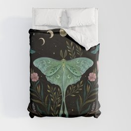 Luna and Forester Duvet Cover