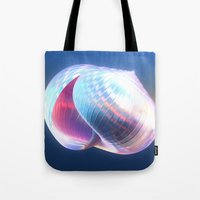 shell Tote Bags featuring Shell by Lynn Bolt