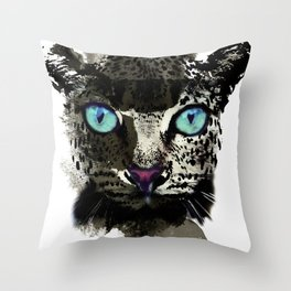 BLACK TIGER Throw Pillow