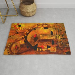 Indigenous Inca Tribal Sapa Inca, Son of the Sun portrait painting by Ortega Maila Rug
