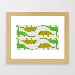 Paper Dino Framed Art Print