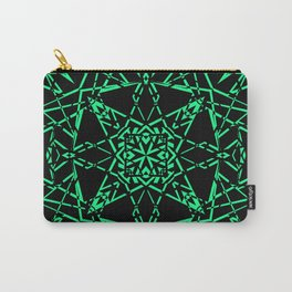 Black and green, abstract, geometric, creative, art Deco, modern Carry-All Pouch