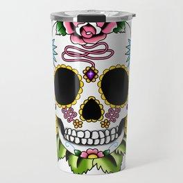 Day of the Dead Flash   Sugar Skull 2 Travel Mug