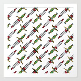 taditional Dagger pattern Art Print