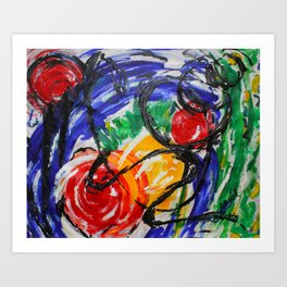 Space Travel Abstract Painting Art Print
