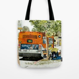 Homeless Series 5 ~ Sunset Blvd., Los Angeles, CA. Tote Bag