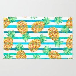 Pineapple Sea Stripes Rug