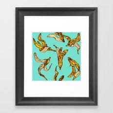 Banana Peel Pattern Framed Art Print