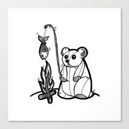 Fishing Bear Canvas Print