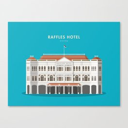 Raffles Hotel, Singapore [Building Singapore] Canvas Print