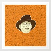 freddy krueger Art Prints featuring Freddy Krueger by Kuki